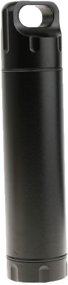 Aufbewahrungsbox Multifunktionelle Wasserdichte Kapsel Pillendose Flasche im Freien Geldscheine Beh/älter Aluminium