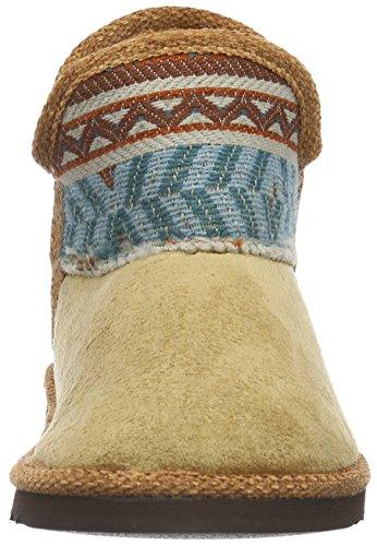 Manitu 370040 - Pantuflas cálidas con forro Mujer Marrón - Braun (mittelbraun)