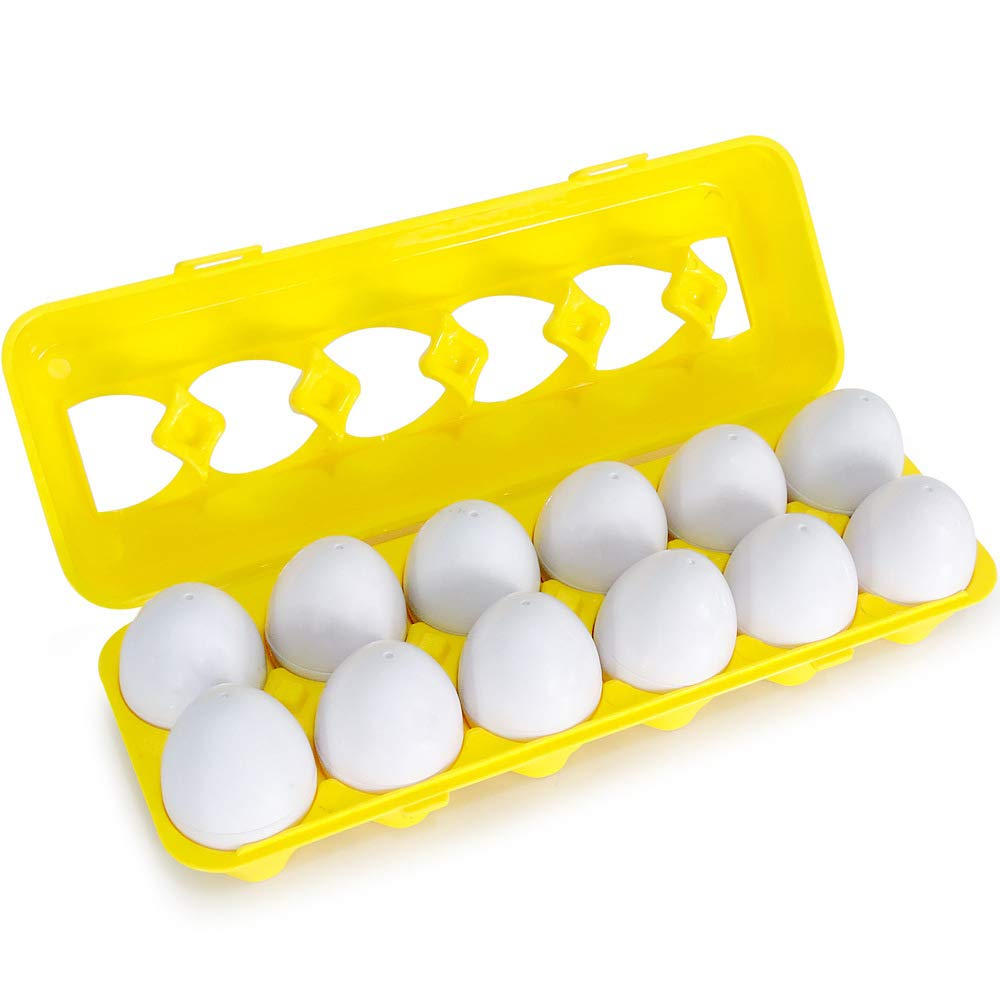 【Matching Egg】Color Classification Toys Educational Toys for Toddlers Shape Puzzles suitabl,Learning Color and Shape Matching Egg Set, Suitable for 18 Months and Over 18 Months of Children. (12 Eggs)