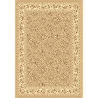 141623 - 53 x 77 Rug Depot Traditional Area Rug - Legacy Collection - Beige Background - Dynamic Legacy 58018-060 Malt - Machine Made of 100% Polypropelene Fibers - 800,000 Points - T-6 Quality Rating - Area Rugs with Matching Stair Runners and Hall Runners