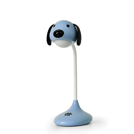 Lámpara Escritorio LED Flexo de Mesa,STRIR Luz con USB Recargable Cuidado de los Ojos Control Táctil con 2 Niveles de Brillo (Azul)