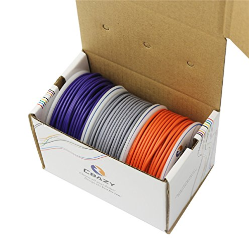 - CBAZYTM Hook up Wire (Stranded Wire) 18 Gauge 1007 18AWG 17M (55 Feet) PVC Electrical Wire Grey+Purple+Orange