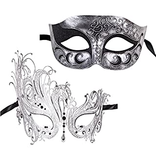 xvevina unique venetian masquerade mask for couples halloween unique couples