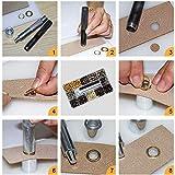 INNETOC 120 Sets - Brass Grommet Eyelets 10mm