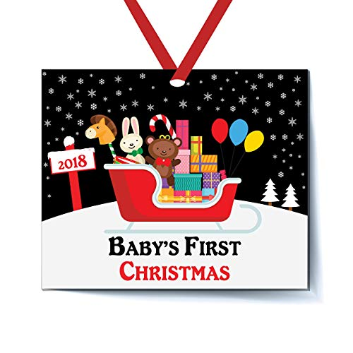 Sleigh Toys Baby's First Christmas Ornament - Babys First Christmas Ornament 2018 - Babys First Christmas ornament 2018 Boy - Babys First Christmas Ornament 2018 Girl - New Mommy Ornament