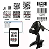 NYEAR Handheld Wired USB Barcode Scanner, 1D and 2D Handheld Inventory Bar Code Reader with Automatic Scan for Computer Windows with USB Cable with 1D and 2D(Bring Support)