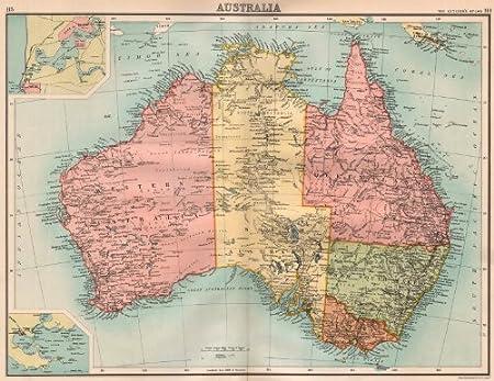 Map Of South Australia And Northern Territory.Australia Showing States South Northern Territory Bartholomew