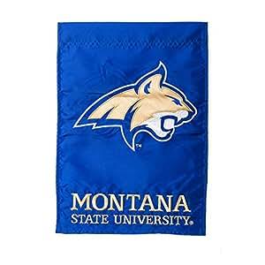 Montana State University Logo Bobcats de jardín de la bandera de