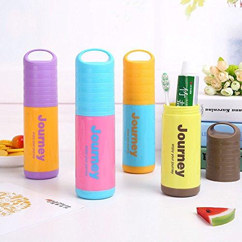 MAZIMARK--Travel Washing Portable Toothbrush Case With Cover Toothpaste Storage Box Holder by MAZIMARK