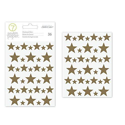 (Studio Calico Seven Paper Felix Collection Foiled Chipboard Stickers (12 Pack) )