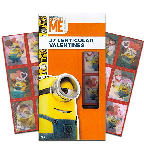 Despicable Me Minion 27 Lenticular Valentines (Valentine Day Cards Despicable Me)