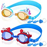 COOLOO Kids Swim Goggles, Pack of 2, Swimming Goggles for Children and Early