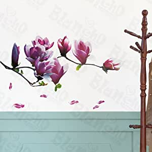 amazon com purple floral elegance decorative wall birds flying feather wall sticker vinyl removable home