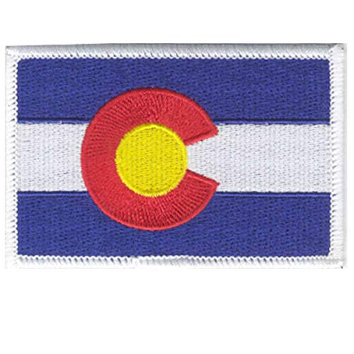 "Strange Cargo Colorado State Flag Fully Embroidered Patch 2.5"" x 3.5"" Full Color Heat Adhesive Back"