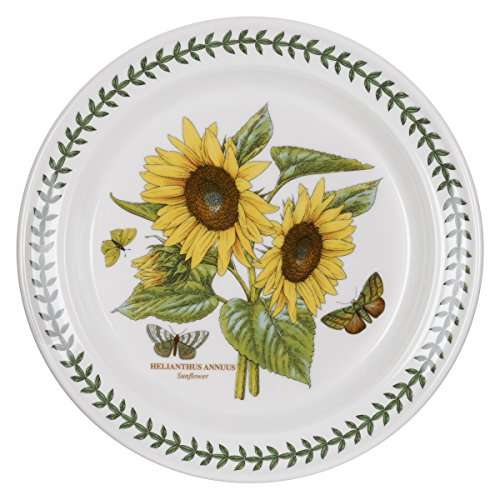 Portmeirion Botanic Garden Dinner Plate, Sunflower Motif, Set of ()