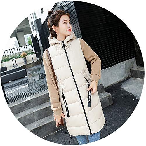 ShiSei(しせい) 中綿ベスト 春秋冬 レディース アウター 防風防寒 厚手 暖かい フード付き