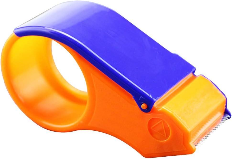 Yardwe 2 ST/ÜCKE Paketband Handabroller f/ür Paketband Klebebandspender Verpackung Bandspender 5cm Breite Office Tape Dispenser B/üro Schulbedarf