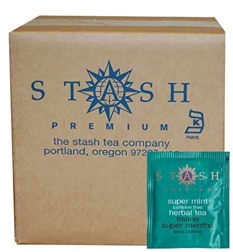Stash Tea Super Mint Herbal Tea, 100 Count (packaging may vary)