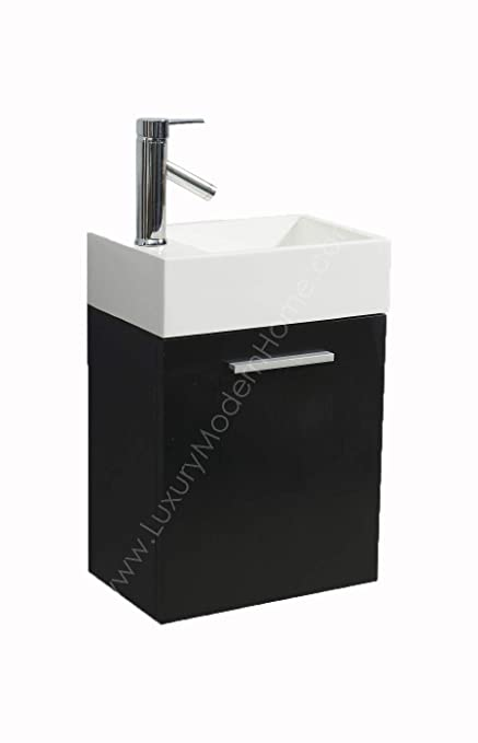Vs Alexius Black 16 X 10 Inch Small Bathroom Vanity Sink