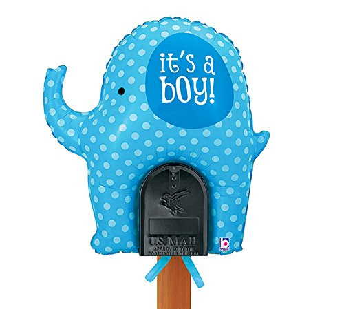 Welcome Home Baby - It's a Boy Blue Elephant Mailbox Balloon Balloon Yard Sign