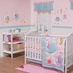 Sea Sweeties 4 Piece Crib Bedding with Bumper For Girls by Belle