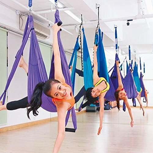 Budalga Yoga Swing Sling Trapeze Inversion Equipment Flying Yoga Hammock Anti-Gravity by Budalga (Image #6)