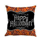 Halloween Decorations Pillow Covers 18x18, Gotd Vintage Throw Pillow Case Cushion Home Decor Decorative Pillowcase (Multicolor F)