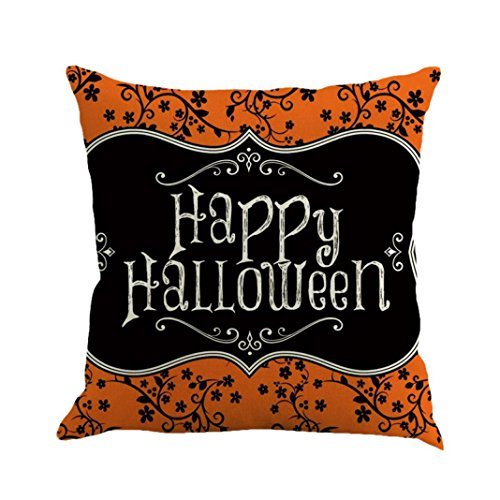 Halloween Decorations Pillow Covers 18x18, Gotd Vintage Throw Pillow Case Cushion Home Decor Decorative Pillowcase (Multicolor F) -