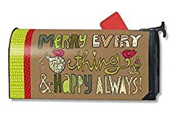 MailWraps Merry Everything Mailbox Cover 01035