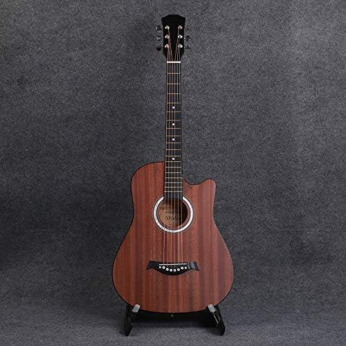 クラシックギター アコースティックギター初心者の学習ギター6弦のギフトのための学生初級ナチュラルウッド38インチ 女の子と男の子のギター (Color : Wood color, Size : 38 inch)