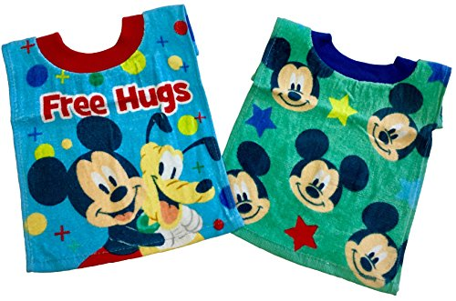 Disney Mickey Mouse Toddler Terry Cloth Bibs 2 Pack (Style Varies)