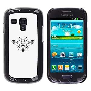 YOYOYO ( NO PARA S3 i9300 ) Smartphone Protección Defender Duro Negro Funda Imagen Diseño Carcasa Tapa Case Skin Cover Para Samsung Galaxy S3 MINI I8190 I8190N - una abeja círculo cobre