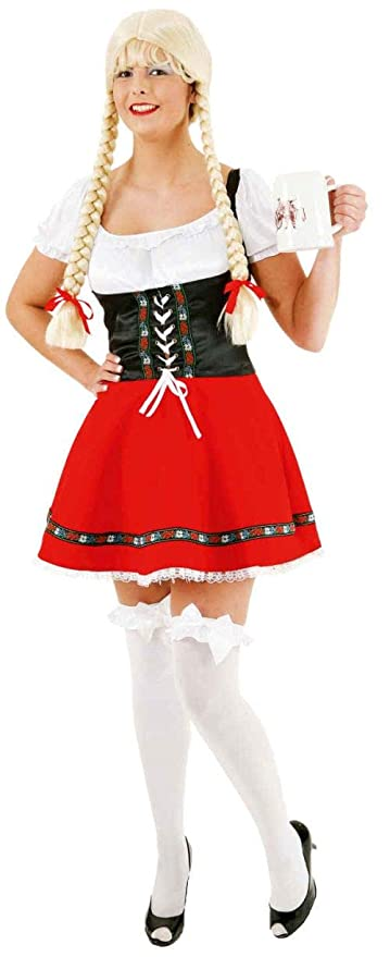 Sale Sexy tirolesa Rojo de talla 38, color negro: Amazon.es ...