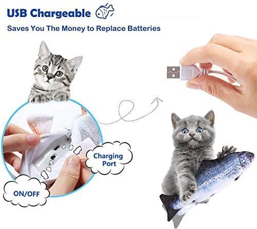 Juguete eléctrico para gato con diseño de pez que baila con sensor de movimiento 3