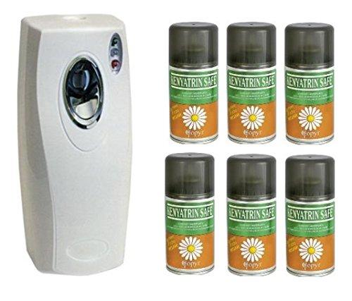 Coprimatic Evolution - Insecticida en espray Kenyatrin Safe, de piretro, de 250 ml, con dispensador automático, para moscas y mosquitos - 6 unidades: ...