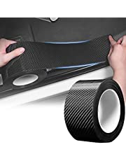 Car Door Entry Edge Guards, Scratch Cover Sill Protector 5D Carbon Fiber Car Wrap Film Automotive Single Adhesive Anti-Collision Film Fits for Most Cars Accessories