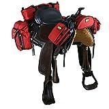 TrailMax 500 Complete Set - Pack System for Western Saddles - Red