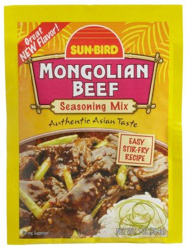 Sun Bird Seasoning Mix, Mongolian Beef, 1-Ounce Packets (Pack of 24)