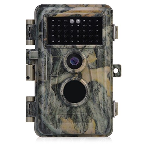 [Upgraded]BlazeVideo 16MP 1080P Game Trail Wildlife Deer Hunting Camera No Flash 38pcs Invisible IR LED Waterproof IP66 65ft Night Vision with Motion Activated PIR Sensor Animals Surveillance 2.4'' LCD by BlazeVideo