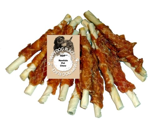 HDP Chicken Hide Dog Treats 5'' Size:Pack of 72 by HDP