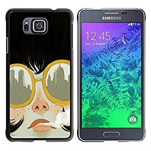 FU-Orionis Colorful Printed Hard Protective Back Case Cover Shell Skin for Samsung ALPHA G850 - Smoking Gun Bobba Fett