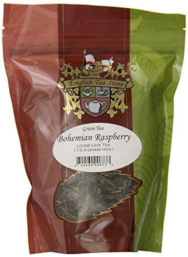 Bohemian Raspberry (English Tea Store Loose Leaf, Bohemian Raspberry Tea Pouches, 4 Ounce by English Tea Store)