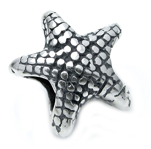 Sterling Silver Ocean Starfish Focal Bead Charm For European Charm Bracelets