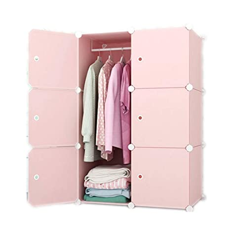 KAIMENG Portable Wardrobe Closet Escritorio de ...