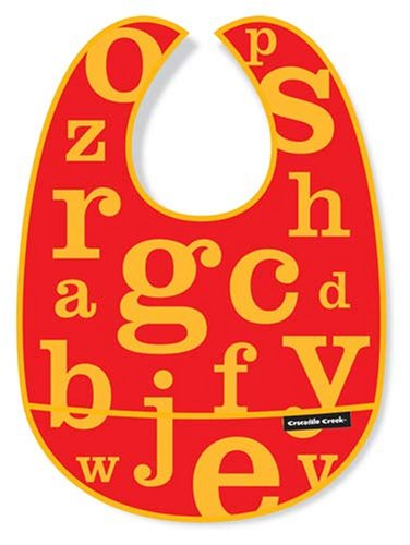 Crocodile Creek Bib (Crocodile Creek Letters Bib - Red)