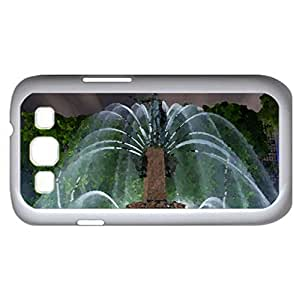 Fountain (Amusement Parks Series) Watercolor style - Case Cover For Samsung Galaxy S3 i9300 (White)