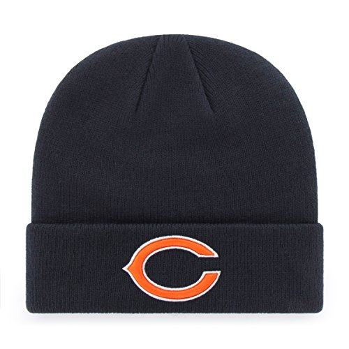 - NFL Chicago Bears Men's Raised OTS Cuff Knit Cap, Team Color, One Size
