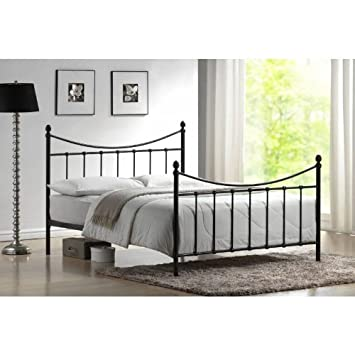 08257d1ea495 Time Living 4ft Small Double Bed Black Metal - Alderley Bed Frame Only