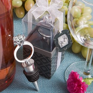 Bottle Stopper Wedding Favors: Diamond Ring Design, 72