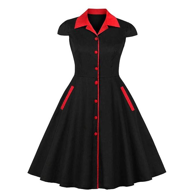 a2cf2893152f ANJUNIE Women Christmas Retro Dress Sleeveless Deer Tie up Vintage Xmas  Party Midi Swing Dress(
